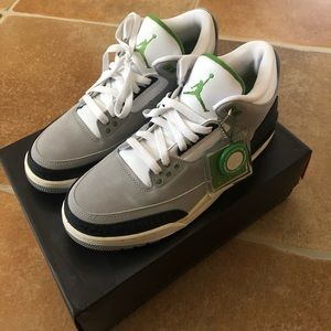 Air Jordan Retro 3 Lt Smoke Grey/Chlorophyll